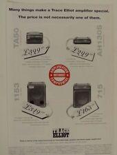 vintage magazine advert 1992 TRACE ELLIOT