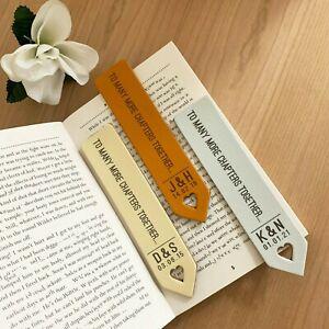 Personalised Leather Bookmark, Anniversary Gift Book Lover Keepsake Customised