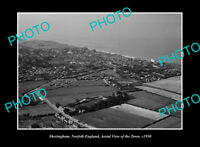 OLD POSTCARD SIZE PHOTO SHERINGHAM NORFOLK ENGLAND AERIAL VIEW DISTRICT c1950