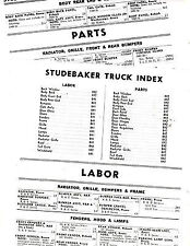 1949 1950 1951 1952 1953 1954 1955 1956 FORD TRUCK PARTS LIST CRASH LABOR SHEETS