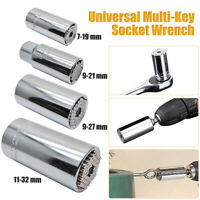 11-32mm Universal Socket Wrench Nut Multi-function Socket Wrench w/Adapter