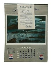 VTG 1947 Pepsi-Cola Advertising Paintings of the Year Paper Calendar *Complete*
