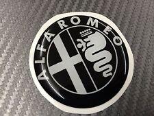 1 Adesivo Stickers ALFA ROMEO Nero e Bianco 74 mm 3D resinato auto