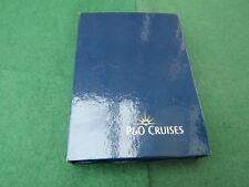 P & O CRUISES MATERIAL COVERED NOTEBOOK WITH OUTER COVER