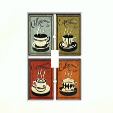 Coffee Latte Espresso Single Light Switch Plate Wall Cover Kitchen Decor