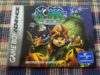 Monster Force - Authentic - Nintendo Game Boy Advance - GBA - Manual Only!