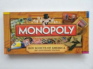 Boy Scouts Monopoly 100th Anniversary Edition Board Game BSA 2010 Sealed Hasbro