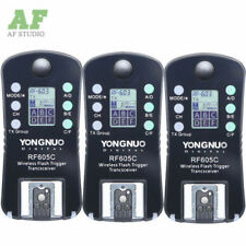 3pcsYongnuo Wireless Flash Trigger RF-605 LCD Transceiver for Canon RF-603 602