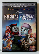 The Rescuers and Rescuers Down Under 2 Movie Collection DVD & Blu-ray Combo Pack