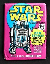 1977 Topps STAR WARS Series 3 Wax Pack R2D2 Wrapper NEW UNOPENED MINT NO RESERVE