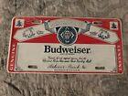 Vintage Budweiser License Plate
