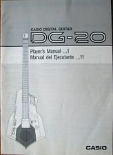 Casio DG-20 Midi Digital Guitar Synthesizer Original Owner's Manual Book