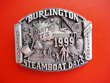 1999 Siskiyou Steamboat Days American Music Festival Burlington Belt Buckle
