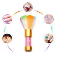 EG_ Colorful Nail Dust Brush Acrylic UV Gel Powder Remover Cleaner Nail Art Tool