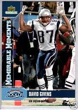 DAVID GIVENS 2005 Upper Deck Super Bowl #MM2