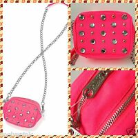 Victoria Secret Pink Cross Body Bag Crossbody Bag Purse Studs Rhinestones NWT