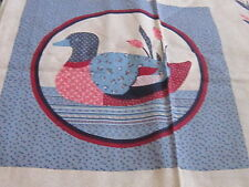 Sewing panel fabric to make a pillow country pink & blue lodge mallard duck pond
