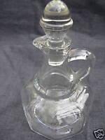 Clear Depression Glass Hazel Atlas Cruet Vinegar Bottle