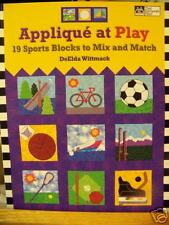 Applique at Play Sport Quilt Block Book DeElda Wittmack