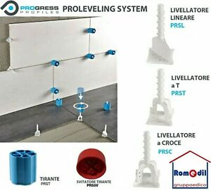 Distanziatori livellanti Livellatori Progress Proleveling Sistem lineari croce T