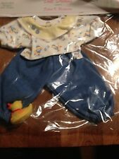 "Bitty Baby Doll 15"" New Outfit Made in USA by Doll Dreams So Cute with Ducky"
