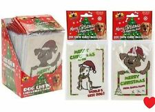 Dog pet edible christmas card rawhide chew toy treat