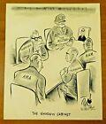 1969 NY Post Original Published Nixon Political Cartoon 11x13