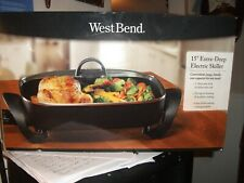 WESTBEND XL Electric Skillet, 15 Inch With Extra Deep 7 Quart Capacity