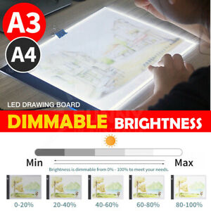 A3 A4 LED Dimmable Tracing Light Box Drawing Board Art Design Pad Copy Lightbox