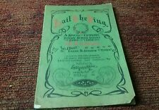 CHRISTMAS SONGS 1904 vintage by WJ post Sunday school service music