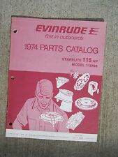 1974 Evinrude 115 HP Starflite 115493 Outboard Parts Catalog MORE IN STORE   L
