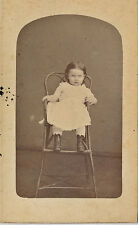 c1770-1779 CDV Baby Lizzie M. Scott in High Chair Photograph