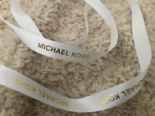 ❤ new white & gold 100cm PIECE AUTHENTIC Michael Kors RIBBON  designer BOWS? ❤