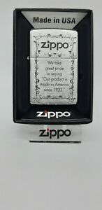 Original Zippo Design - We take great pride... #28156 - 2011 - Neu