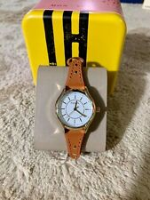 Fossil Ladies Gold Tone Stainless Steel Leather Band Watch BQ3067 (Dark Brown)