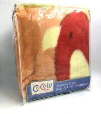 """CoCaLo Alphabet Soup Nursery peluche Cozy Couverture 36"""" X 40"""""""