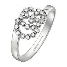 ANELLO GUCCI RUNNING G Oro bianco YBC481650001 DIAMANTI Ring white gold MIS 14
