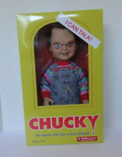 Mezco Childs Play 15 inch Talking Sneering Chucky Action Figure **WEAR ON BOX***