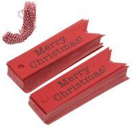 100pcs Supplies Papier Kraft Étiquette-cadeau Queue De Poisson Joyeux Noël