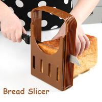 Bread Slicer Toast Sandwich Cutter Mold Maker Slicing Cutting Guide Kitchen New