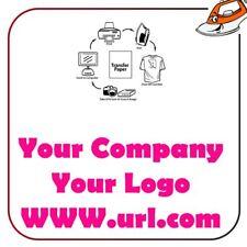 Your Logo Company URL Hen Party Print Iron On Fabric Heat Transfer Top T Shirt