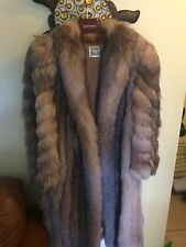 Vintage Saga Selected Fox Beige Silver Fur Coat Size M Chinchilla