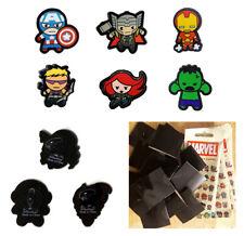 6 Avengers Pins - Iron Man Cap Widow Hulk Thor Hawk - Marvel Collectible Pins v2