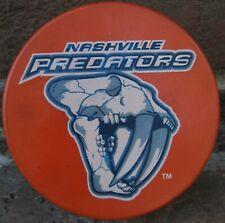 Nashville Predators Pred Hockey Team Mountain Dew Live Wire Orange Puck Souvenir