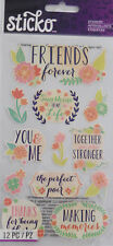 EK SUCCESS STICKO FRIENDS Floral Amigos Scrapbook Craft Stickers Embellishments