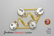 Les Paul Wiring Harness Kit Mallory 150 Mustard .022 uF CTS Short Shaft 500K