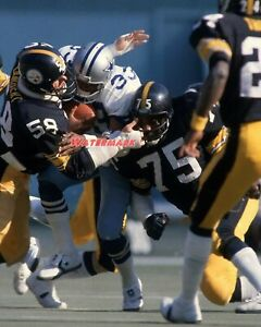 Pittsburgh Steelers Jack Lambert Joe Greene Tackle Tony Dorsett 8 X 10 Photo