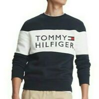 Tommy Hilfiger Mens Designer Stellar Logo Sweatshirt / Jumper Blue Size L or  XL