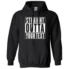 Custom Straight Outta HOODIE Personalized Compton Movie Parody Hooded Sweatshirt