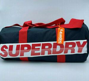 SUPERDRY 2020 International Barrel Duffle Bag Sports Carryall Weekend Red SALE!